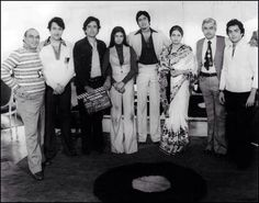 With Yash Cjopra,Randhir Rishi and Shashi Kapoor, Sanjeev Kumar and Poonam