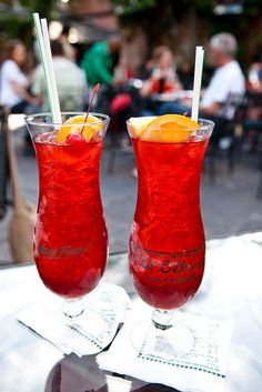 Pat O'Brian's Famous Hurricanes! Approx. 12 minute walk from the Sheraton 718 Saint Peter Street New Orleans, LA 70116
