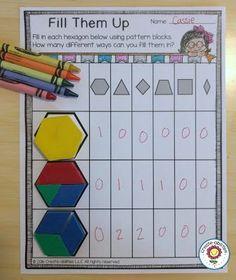 Hexagon Fractions by Create-abilities Hands On Activities, Math Activities, Fraction Activities, Teaching Math, Teaching Ideas, Kindergarten Math, Math Fractions, Maths, First Grade Math