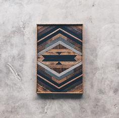 "Robert Hamrick - Wall Art - 22""x33"" Made from reclaimed house wood from Nashville, TN & textured copper"