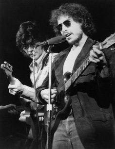 Bob Dylan and Robbie Robertson