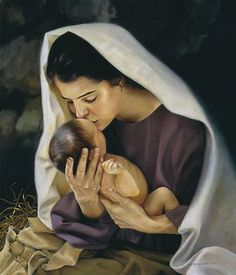 Image result for picture of mary and jesus in manger
