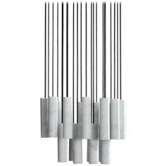 Salvatori Silo Chandelier in Bianco Carrara Marble by David Lopez Quincoces   From a unique collection of antique and modern chandeliers and pendants at https://www.1stdibs.com/furniture/lighting/chandeliers-pendant-lights/