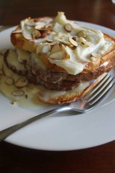 A Bit of Bees Knees: Lemon Mascarpone French Toast With Almonds