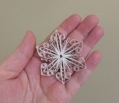 Snowflake tutorial Quilling pattern decoration by Quillings4U