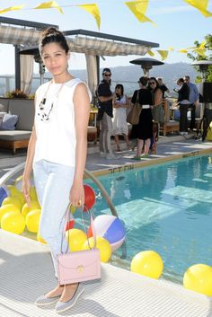 Freida Pinto in Kate Spade Saturday. [Photo by Owen Kolasinski/BFAnyc. com]