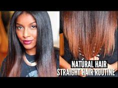 How To: Straighten My Natural Hair FULL ROUTINE - http://community.blackhairinformation.com/video-gallery/natural-hair-videos/straighten-natural-hair-full-routine/