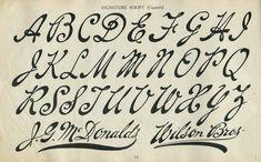 Fancy Script (Capitals).