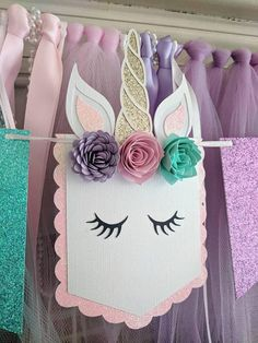 Unicorn theme first birthday decorations, Unicorn garland, Unicorn wall decor, Unicorn birthday banner, First birthday girl decoration Diy Birthday Banner, Girl Birthday Themes, 10th Birthday Parties, Diy Banner, Girl First Birthday, Birthday Party Decorations, Baby Birthday, Girl Themes, Unicorn Baby Shower