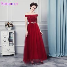 Elegant Wine Red Long Bridesmaid Dresses with Sashes Decoration Off Shoulder Strapless Corset Brides Maid Of. Click visit to buy #WeddingPartyDress #wedding #party #dress