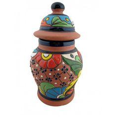 Raised Talavera Small Tibor Pot