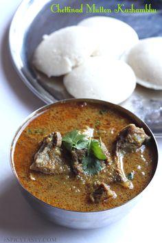 Chettinad Mutton Kuzhambhu n idlu  Chettinad mutton n chicken curry + idli always makes the best pair