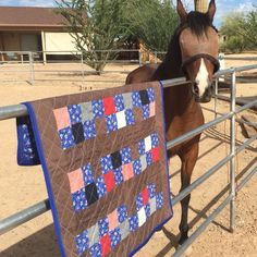 Baby Quilt.  Beautiful horse baby quilt made in a RV.  RV Quilting.  How to quilt in a RV.