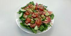 Werklunch - salade met spinazie, rauwe ham en geitenkaas - Culi Sandra