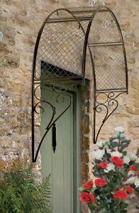 ENGLISH GARDEN TRELLIS Black Metal Ornate Arch Plants Climbing Wall Door Window | eBay