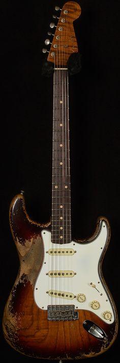 Fender Custom Shop Masterbuilt Dale Wilson 1961 Stratocaster Heavy Relic 3-Chocolate Sunburst
