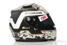 Giedo van der Garde, Caterham F1 Team test Driver helmet at 2012 drivers helmets