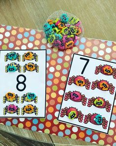Matching Counters One to One to a Numeral. Target $1 Erasers.