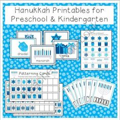 Hanukkah Printable Activities for Preschool and Kindergarten from TeachingtheLittlePeople on TeachersNotebook.com (8 pages)