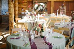 Country vintage wedding decor. rustic wedding. Colors: burgundy and willow green