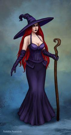 Witch by NataliaAsanova on DeviantArt Halloween Artwork, Halloween Pin Up, Happy Halloween, Witch Pictures, Halloween Pictures, Fantasy Witch, Witch Art, Fantasy Art Women, Fantasy Girl