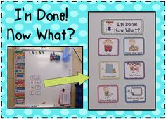 Inspired by Kindergarten: Fast Finishers