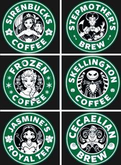 Disney starbucks :'D Logo Disney, Art Disney, Disney Crafts, Disney Magic, Disney Movies, Disney Pixar, Disney Stuff, Logo Starbucks, Disney Starbucks