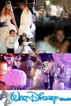 Mariah Carey – Vow Renewal And Twins' Birthday In Disneyland – love the huge centerpiece full of white roses