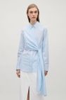 COS image 2 of Shirt with knot detail in Pale Blue