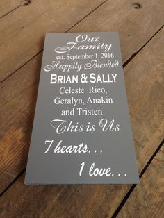 Wedding Stuff, Wedding Ideas, Rustic Wall Art, Pallet Signs, Felicia, Home Signs, Cricket, This Is Us, Home And Family