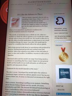 My Dentist, Chronic Kidney Disease, My Mouth, Blog