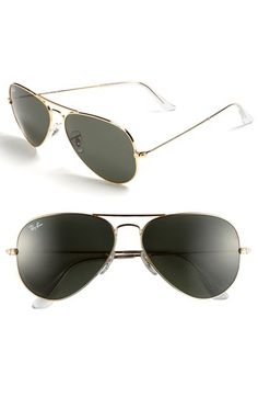 Ray-Ban 'Original Aviator' 58mm Sunglasses. LOOOOOOVE!!!!!