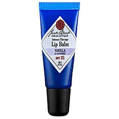 Jack Black - Intense Therapy Lip Balm SPF 25 - I loooove the Grapefruit scented lip balm. GREAT moisture, long lasting, non-sticky and you don't have to reapply every 5 minutes... Just the way a man would want it, being as this skin care line is geared towards males! What a great find!