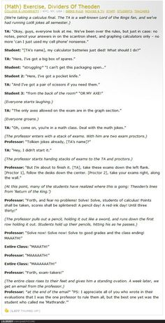 I sure wish I had Middle-earth math teachers like these...I WILL NEVER STOP PINNING THIS! LOL :D