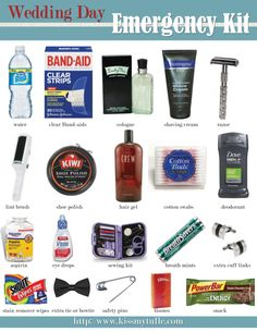 A Wedding Day Emergency Kit Checklist (for the Men): http://su.pr/4J2bU7