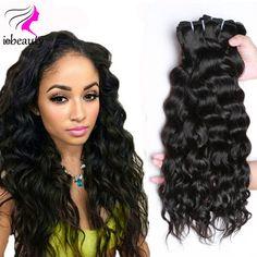 Raw Indian Hair Natural Wave 3 Bundles 7A Unprocessed Virgin Hair Cheap Raw Virgin Indian Hair Natural Wave Indian Virgin Hair