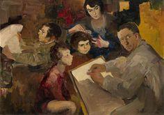 Малявин Филипп Андреевич - Автопортрет  с семьей