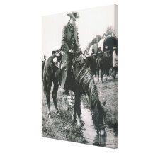 Vintage Western Cowboy On Trail Ride Horse Wagons Canvas Print Western Art, Western Cowboy, Horse Wagon, Vintage Canvas, Trail Riding, Old West, Rodeo, Canvas Art Prints, Westerns