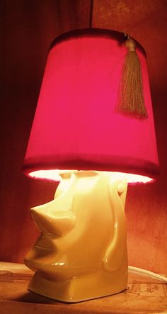 Village lamp shop mini moa with fez shade