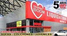 TIENDA DE MUEBLES BOOM en ALCORCÓN - MADRID P. C. PARQUE OESTE - C/ LUXEMBURGO 9  (Junto a Maisons du Monde y Conforama) ALCORCÓN  (MADRID)