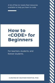 This free ebook is a listing of various free or nearly free resources available to help you learn to code. Whether you are a teacher who is Computer Programming Languages, Different Programming Languages, Coding Languages, Learn Programming, Python Programming, Learn Computer Coding, Learn Computer Science, Learn Coding Online, Computer Tips