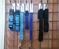 A selection of Side Release Collars and Close Control Leads.  Along with black extension straps for life jackets for Willows Hydrotherapy.