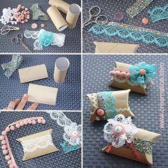 Petites boîtes cadeau avec rouleau de papier wc. Idee créa malice!