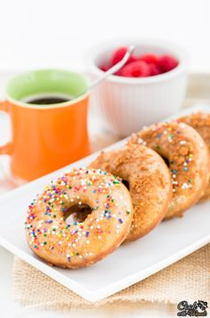 Vanilla Donuts with Cookie Butter Glaze