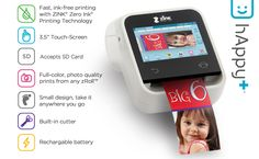 Check out our ZINK hAppy+ with a built-in touch screen that eliminates the need for additional devices.