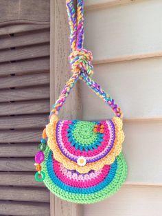 Crochet girl purse van keiahstewart op Etsy, $35.00