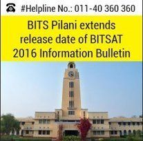 BITS Pilani extends release date of BITSAT 2016 Information Bulletin