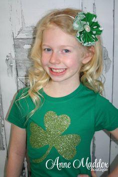 Girls Glitter St. Patrick's Day Shirt / St. Patricks Day Girls /  St. Patrick's Day Shirts / St. Patrick's T-Shirts / St. Patricks Shirts