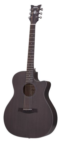Schecter 3713 Acoustic-Electric Guitar, Satin See-Thru Black | eBay