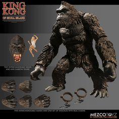 King Kong Figures - King Kong Of Skull Island Pre-Order Anime Figures, Action Figures, Action Toys, King Kong Skull Island, King Kong Vs Godzilla, Godzilla 2, Real Chains, Detail King, Barrel Of Monkeys